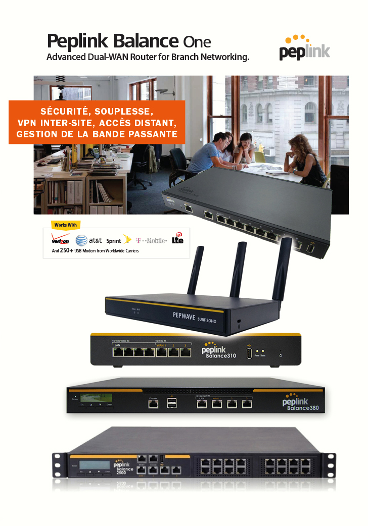 peplink balance one advanced dual wan router for networking peplink logo sécurité souplesse acces distant gestion